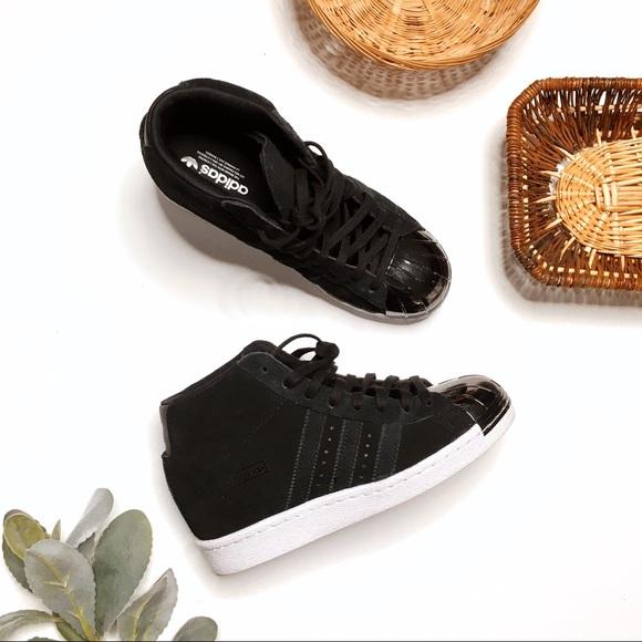 Resistente etiqueta Desaparecido  adidas Shoes | Adidas Superstar Up Metal Toe Wedge Sneaker Black | Poshmark